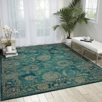 Nourison 2020 Teal Area Rug (6'6 x 9'5) - 6'6 x 9'5