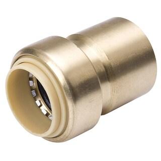 "Proline 634-204HC FPT Lead Free Brass Push Fit Valve Adapter 3/4"" X 3/4"""