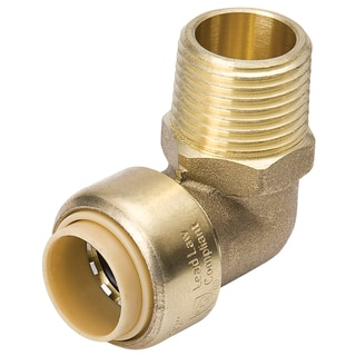 "Proline 631-203HC 1/2"" X 1/2"" 90° Low Lead Brass MPT Elbow Adapter"