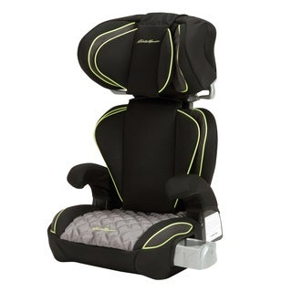 Eddie Bauer Black Plastic/ Fabric Deluxe Auto Booster Adjustable Car Seat