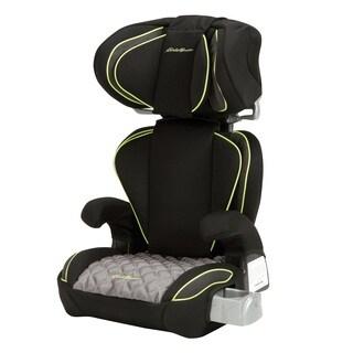 Eddie Bauer Black Plastic/ Fabric Deluxe Auto Booster Adjustable Car Seat