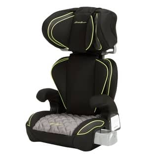Eddie Bauer Black Plastic Fabric Deluxe Auto Booster Adjustable Car Seat 2 Options Available