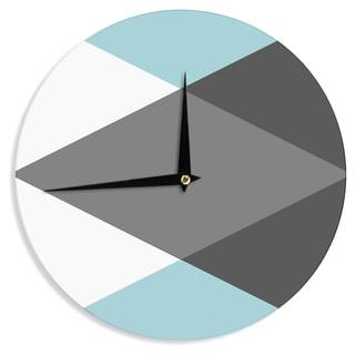 KESS InHouse Suzanne Carter 'Diamonds' Gray Blue Wall Clock