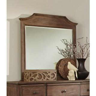 Rustic Brown Wood Mirror