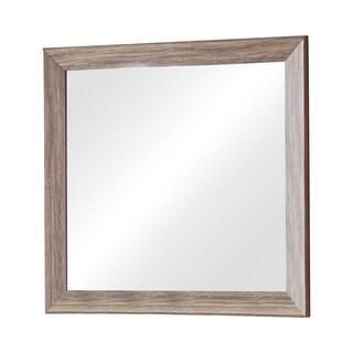 Rustic MDF Rectangular Mirror