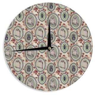 KESS InHouse DLKG Design 'Camafeu' Gray Beetles Wall Clock