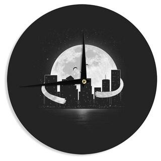 KESS InHouse Digital Carbine 'Goodnight' Black White Wall Clock