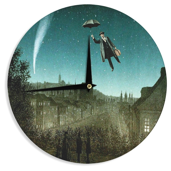 KESS InHouse Suzanne Carter 'The Departure' Wall Clock