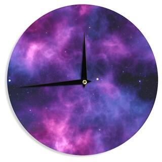 KESS InHouse Chelsea Victoria 'Infinity ' Purple Fantasy Wall Clock