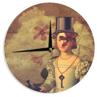 KESS InHouse Suzanne Carter 'The Key' Portrait Wall Clock