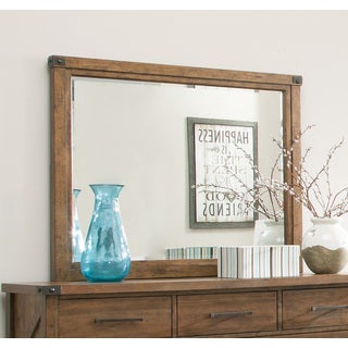 Coaster Company Brown Wood Large Mirror