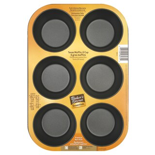 Bakers Secret 1114364 6 Cup Texas Size Baker's Secret® Muffin Pans