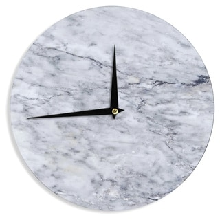 KESS InHouse Chelsea Victoria 'Marble' Blue Black Wall Clock