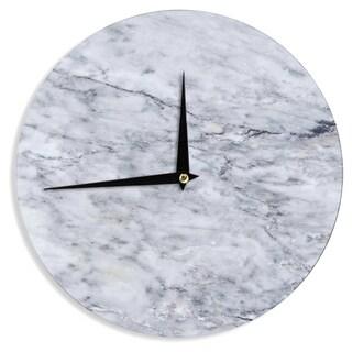 "KESS InHouse Chelsea Victoria 'Marble' Blue Black Wall Clock - 12"""