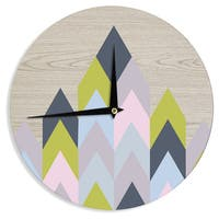 KESS InHouse Suzanne Carter 'Woodgrain' Geometric Wall Clock