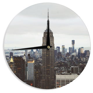 KESS InHouse Chelsea Victoria 'New York Stories' Urban Travel Wall Clock