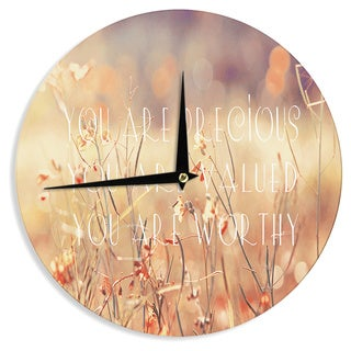 KESS InHouse Suzanne Carter 'You are Precious' Quote Wall Clock