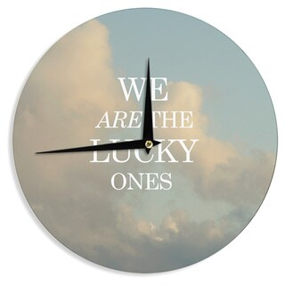 KESS InHouse Chelsea Victoria 'The Lucky Ones' Blue Nature Wall Clock