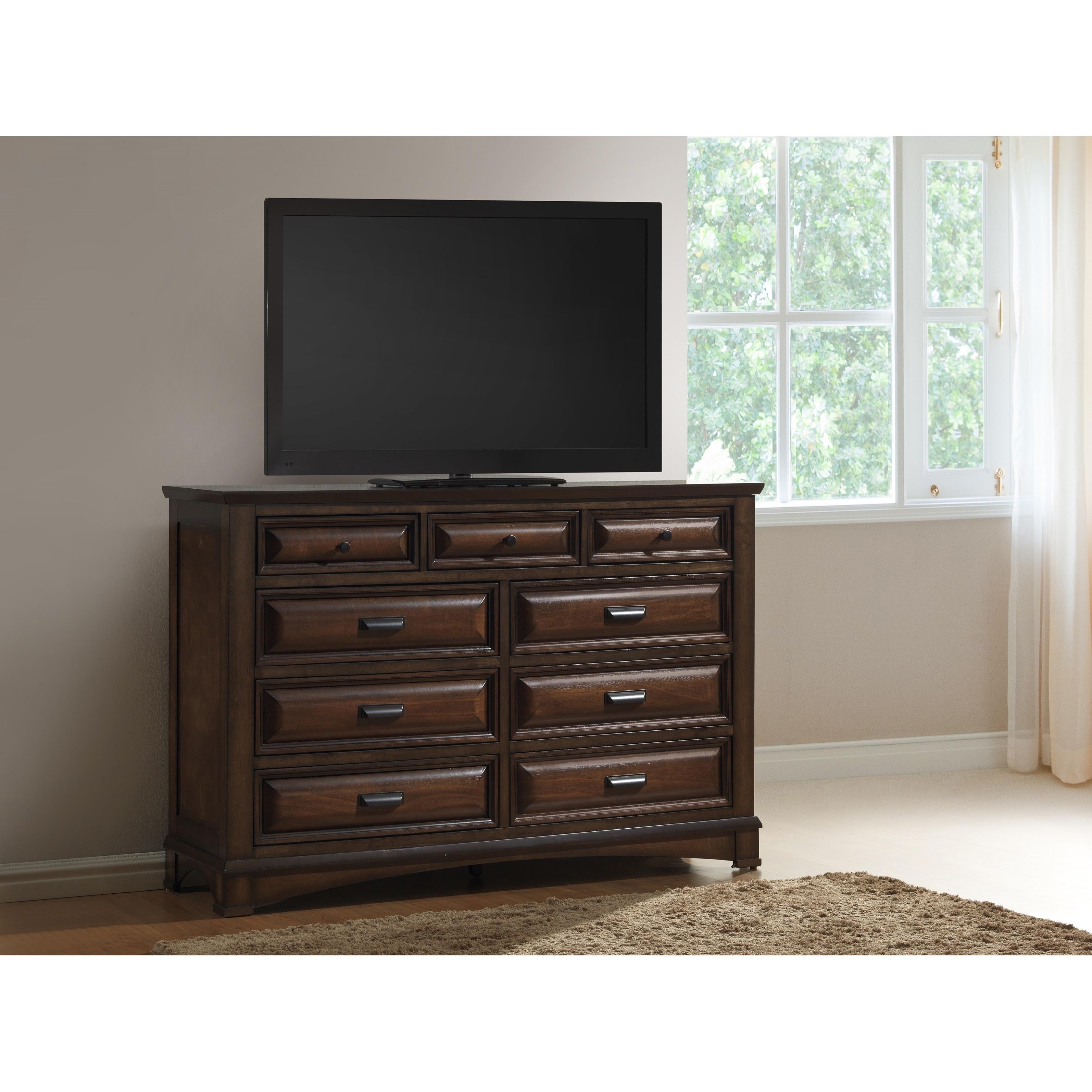 Broval Light Espresso Wood 9-Drawer Dresser (Espresso), B...