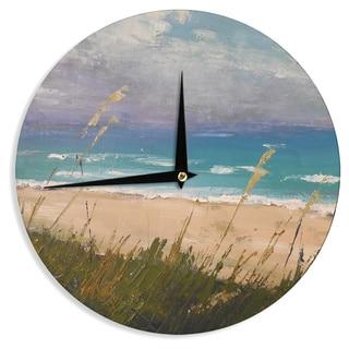 KESS InHouse Carol Schiff 'Florida Beach Scene' Coastal Blue Wall Clock