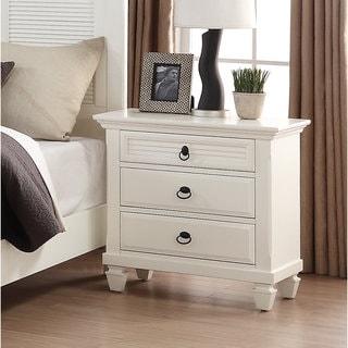 Regitina 016 White Wood Bedroom Nightstand