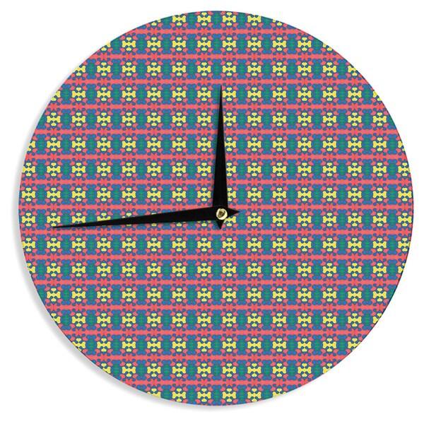 KESS InHouse Empire Ruhl 'Delilah' Red Pattern Wall Clock