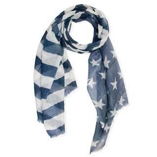 Saachi Women's Stripes and Stars Wool Scarf (India)