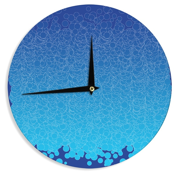 KESS InHouse Frederic Levy-Hadida 'Bubbling Blue' Wall Clock