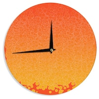 KESS InHouse Frederic Levy-Hadida 'Bubbling Red' Wall Clock