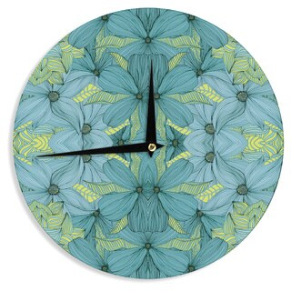 KESS InHouse Akwaflorell 'Blues in Blue' Wall Clock