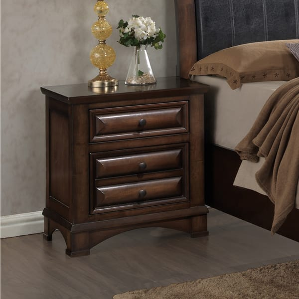Shop Roundhill Furniture Broval 179 Light Espresso Finish Wood 2