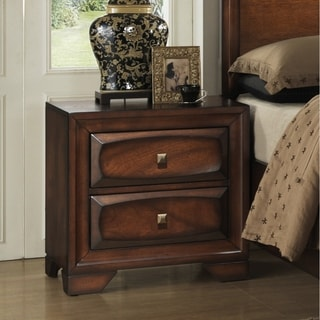 Oakland 139 Antique Oak Finish Wooden 2-drawer Nightstand