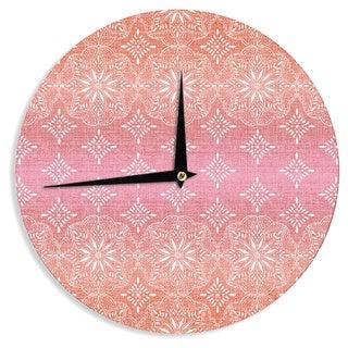 KESS InHouse Suzie Tremel 'Medallion Red Ombre' Pink Wall Clock