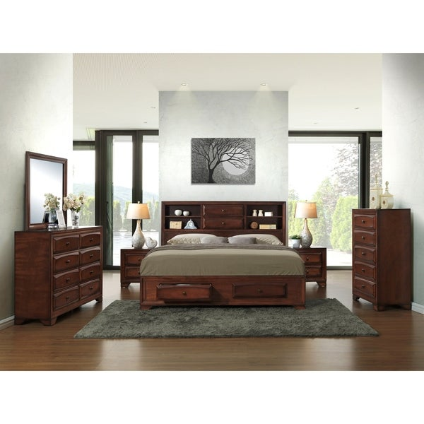 Broyhill Bedroom Furniture Reviews Diy Bedroom Art Canopy Bedroom Sets King Size Navy And Black Bedroom: Shop Asger Antique Oak Finish Wood Queen-size 6-piece