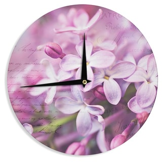 KESS InHouse Sylvia Cook 'French Lilacs ' Purple Photography Wall Clock
