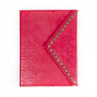 Handmade Nailhead Journal - Scarlet (India)