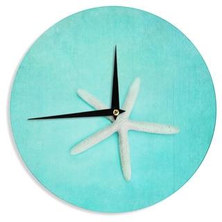 KESS InHouse Sylvia Cook 'Starfish' Wall Clock