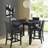 Avenue Greene Curtis Faux Marble Counter Height Dining Set