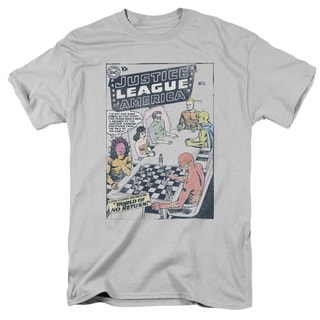 JLA/World Of No Return Short Sleeve Adult T-Shirt 18/1 in Silver