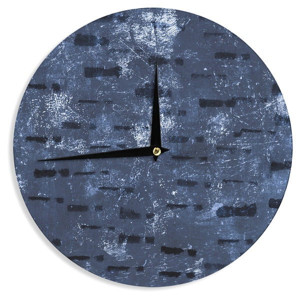 KESS InHouse Iris Lehnhardt 'Tex Mix Blue' Abstract Blue Wall Clock