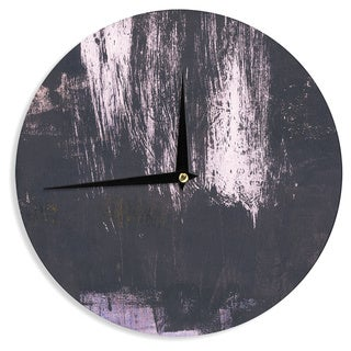 KESS InHouse Iris Lehnhardt 'Brushstrokes 1' Gray Abstract Wall Clock