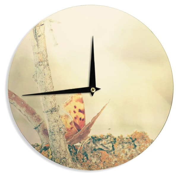 KESS InHouse Sylvia Coomes 'Monarch Butterfly' Photography Nature Wall Clock