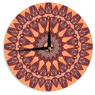 KESS InHouse Iris Lehnhardt 'Colors of Africa' Brown Orange Wall Clock