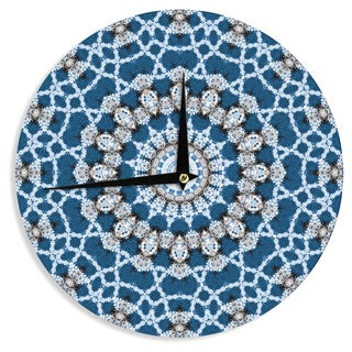 KESS InHouse Iris Lehnhardt 'Mandala II' Blue Abstract Wall Clock
