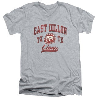 Friday Night Lights/Athletic Lions Short Sleeve Adult T-Shirt V-Neck in Heather
