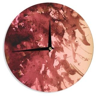 KESS InHouse Ebi Emporium 'Splash Out Red Coral' Maroon Orange Wall Clock