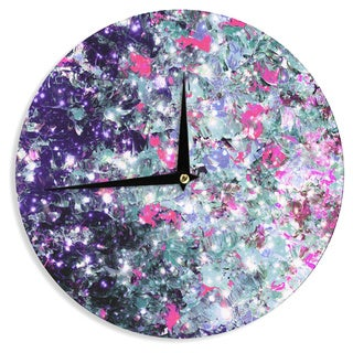 KESS InHouse Ebi Emporium 'In Perpetuity Purple Pink' Lavender Painting Wall Clock
