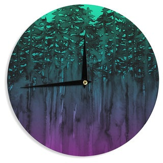 KESS InHouse Ebi Emporium 'Forest Through The Trees 9' Purple Black Wall Clock