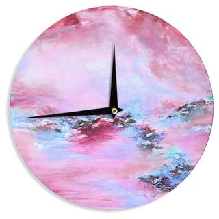 KESS InHouse Ebi Emporium 'Sea To Sky 3' Pink Abstract Wall Clock