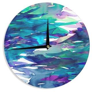 KESS InHouse Ebi Emporium 'Fervor 5' Blue Teal Wall Clock